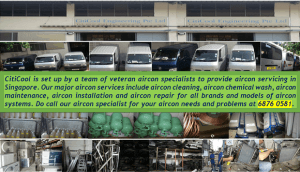 Citicool's Aircon Servicing Singapore Workshop