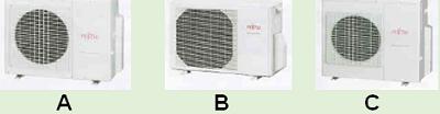 Fujitsu aircon -  System 2 to 4 condensers