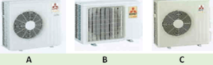 mitsubishi aircon - multi split inverter (outdoor unit)