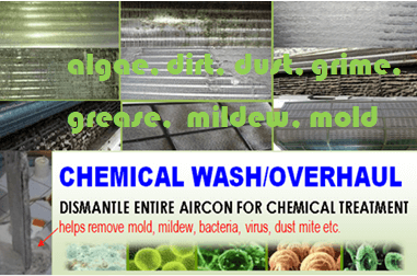 aircon chemical wash or aircon chemical overhaul